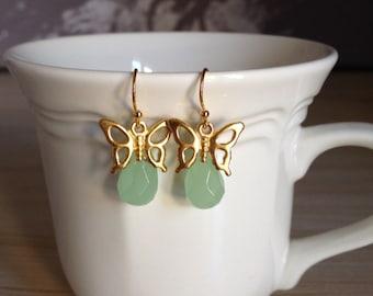 Pretty Butterfly Dangle Earrings