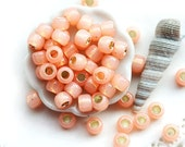 TOHO Seed beads, size 6/0,  Silver-Lined Milky Peach, N 2111, round, japanese glass - 10g - S313