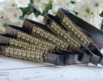 Ivory Beaded Serving Tongs - Set of 6 Candy Bar Bundle TABLE SETTING