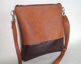 Crossbody bag, Everyday purse, Shoulder colorblock bag