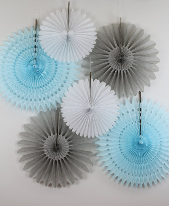 baby shower decorations 6 tissue paper fans decor kit baby showers birthday