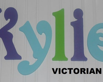 "SALE :) Wall Letters - Painted Wood - Victorian- plus other Fonts - Gifts and Decor for Nursery, Home, Playrooms, Dorms - 10"" Size"