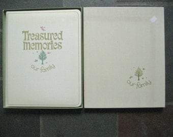 Gibson Our Family Treasured Memories Genealogy Record Book Unused in Box Vintage 1970s Family Tree