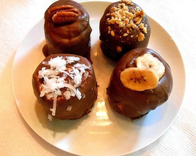 BULK ORDER, Caramel Filled Marshmallows, Jumbo Size, Chocolate Covered, Edible Favors 25