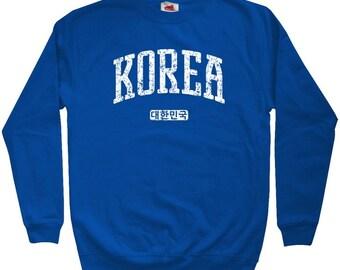 Korea Sweatshirt - Men S M L XL 2x 3x - Crewneck Korean Shirt - 4 Colors