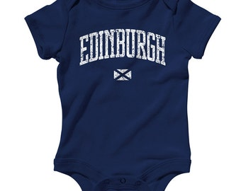 Baby Edinburgh Romper - Infant One Piece - NB 6m 12m 18m 24m - Scotland - 4 Colors