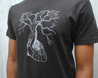 Anatomical Heart Tree Tee - Mens Organic Cotton t-shirt