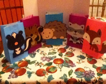 Cute Woodland Animal Party Goody Bags