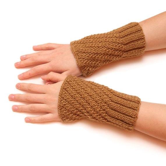 Unique fingerless gloves - warm winter mittens, fingerless gloves, womens arm warmers, hand knitted mittens, handmade gloves, gift for her