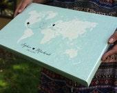 Signable Pearlescent Canvas Guest Book- Wedding Guest Book Alternative - Custom Wedding Gift - Sizes 8x10 - 10x16 -12x20