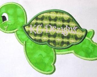 Tortoise Machine Applique Embroidery Design - 4x4, 5x7 & 6x8