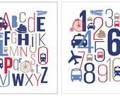 INSTANT DOWNLOAD  -  Transportation art prints, transportation wall art, transportation nursery,