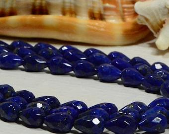 Lapis Lazuli 12x8mm 2 Beads Royal Blue Natural Lapis Lazuli Beads Jewelry Making Supplies