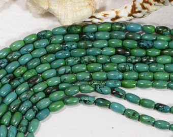 """Turquoise Beads  7.5x4.6mm 15 3/4"""" Strand Natural Gemstone Beads Jewelry Making Supplies Turquoise Beads"""