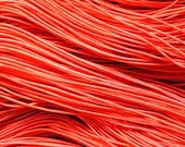 25 metres of 1mm Red Elastic String for beading