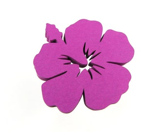 "2"" Hibiscus Flower Die Cuts set of 25"
