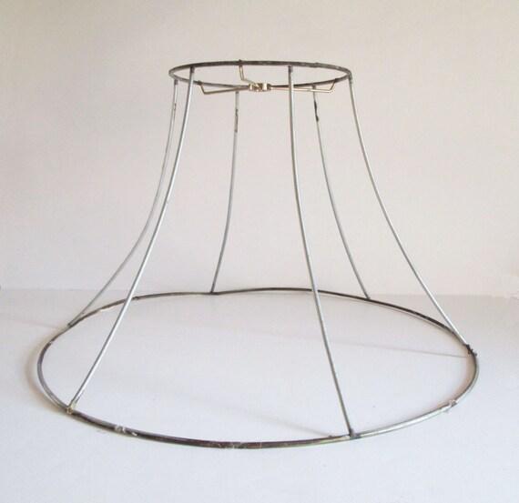 large bell shaped lamp shade frame vintage shade frame. Black Bedroom Furniture Sets. Home Design Ideas