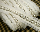 beaded Trim,  rhinestone trim, bridal sash trim, jewelry trim, pearl beading trim,ruffled beaded trim, luxury trim