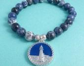143 Sodalite Lighthouse Bracelet