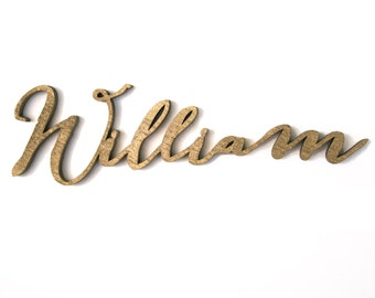 Laser Cut Names Black Or Custom Colors Calligraphy Place