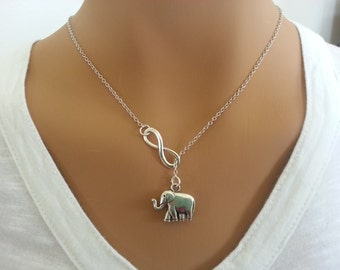 Larite Style Infinity and Elephant Necklace