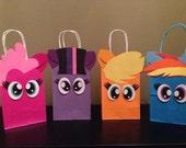12 (1 DOZEN) MLP inspired favor bags
