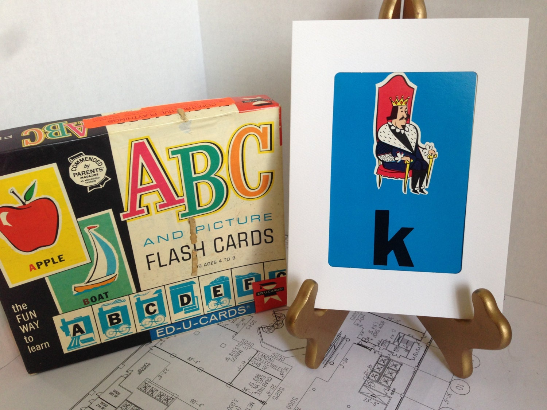 k is for king flashcard fun greeting card blank inside