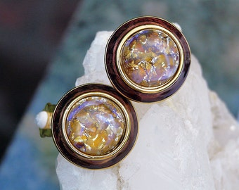 Joan Rivers 12K plated fashion chic glass dome earrings