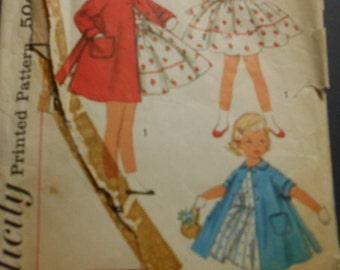 Simplicity 1936,  Child 4 Vintage Dress an Coat