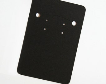 100pc Black Paper Necklace and Earrings Card for Jewelry and Accessories- Superior Quality