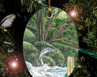 Hazel Celtic Tree Ogham Voice of the Trees Ornament
