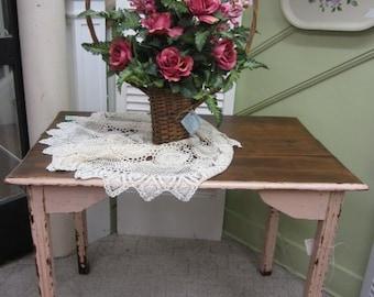 Vintage Pink Kitchen Table Desk Prairie Style Shabby Chic BOHO Bohemian FREE Shipping