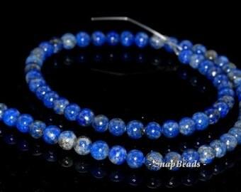 6mm Azura Lapis Lazuli Gemstone Blue Round 6mm Loose Beads 15.5 inch Full Strand (90147772-438)