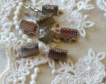 10 x 6 mm Platinum Plated Fasteners Clasps (.ms)