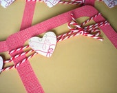 Valentines Day Cards set of 6 with Envelopes-Hearts and Be My Valentine