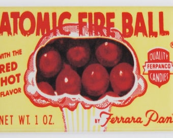 Atomic Fireball Fridge Magnet
