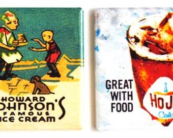 Howard Johnson Ice Cream & Soda Fridge Magnet Set
