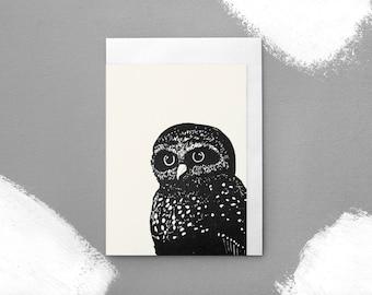 New Zealand Owl Illustration Greeting Card