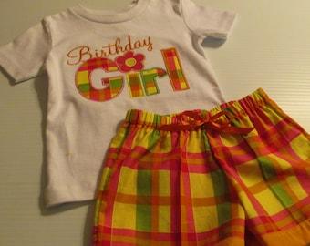 Birthday Girl Shirt and Shorts Set