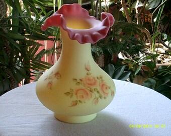Fenton Burmese Vase