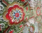 Vintage Barkcloth Fabric Yardage 1 Yard Midcentury Fabric CoFabCo Fabric Company Gold Metallic Fabric Vintage Sewing Supply 1 Yard of Fabric