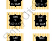 INSTANT DOWNLOAD- Bumble Bee Party Printables- Gift tags, Printables,Die Cuts, tags, Invitations, Cards, Scrapbooking