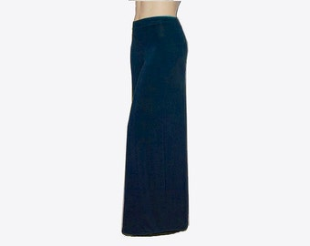 Plus Size Wide Leg Pants - Palazzo Pants in Hand Dyed Organic Cotton/Bamboo Jersey - Womens Custom -Choice of Color-XL,2X,3X,4X,5X,6X,7X,8X