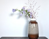 Retro white brown vase