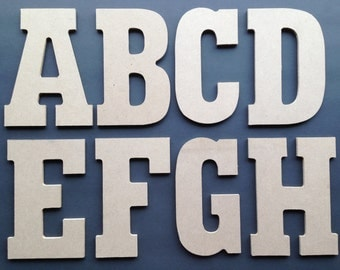 Wood Letters and Numbers 8 Inch Mosaic Base Form - Collage and Decoupage