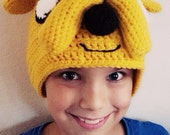 Yellow Dog - Jake the Dog Adventure Time Inspired Crochet Hat