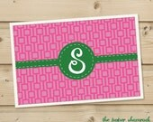 Lattice -  Personalized Placemat, Customized Placemats, Custom Placemat, Personalized Gift