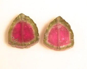 10.5 carats tourmaline slice 12x11 mm