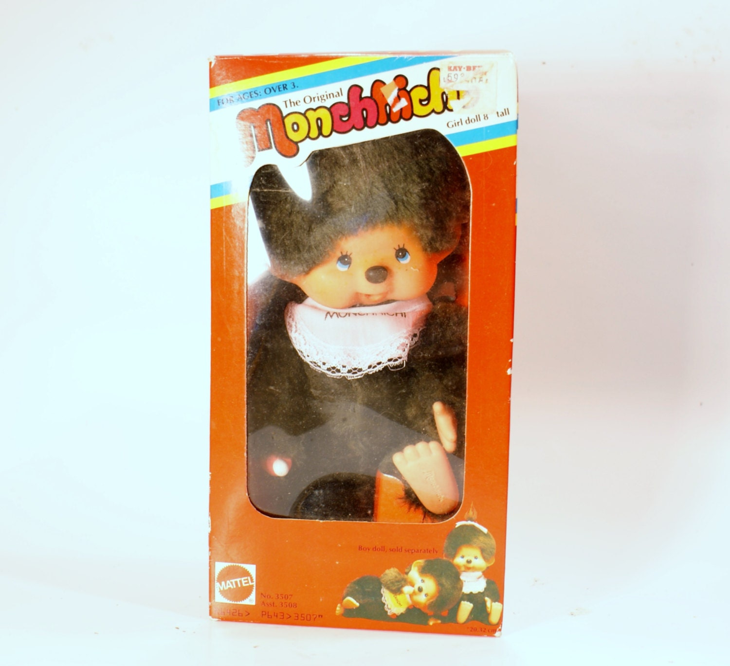 Toys From The 1980s : Vintage toy monchhichi doll mattel s in box