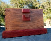 Handmade walnut,  curio/stash box